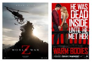 Posters for War World Z & Warm Bodies