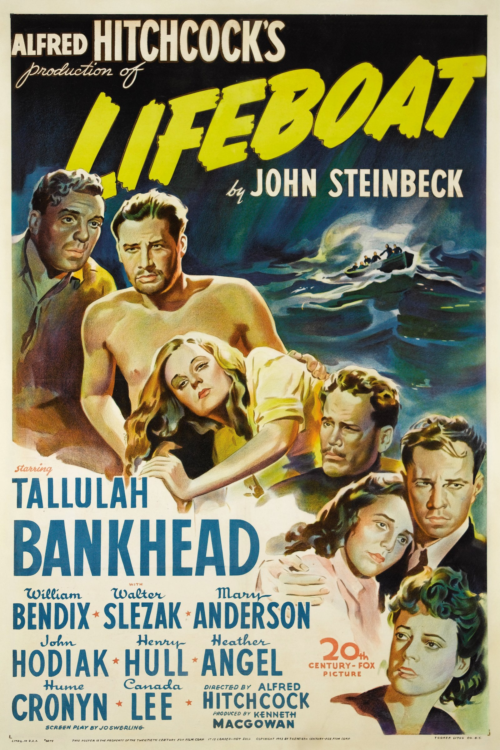 Lifeboat John Steinbeck Alfred Hitchcock