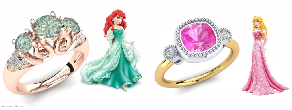Arial and Aurora's Engagement Rings