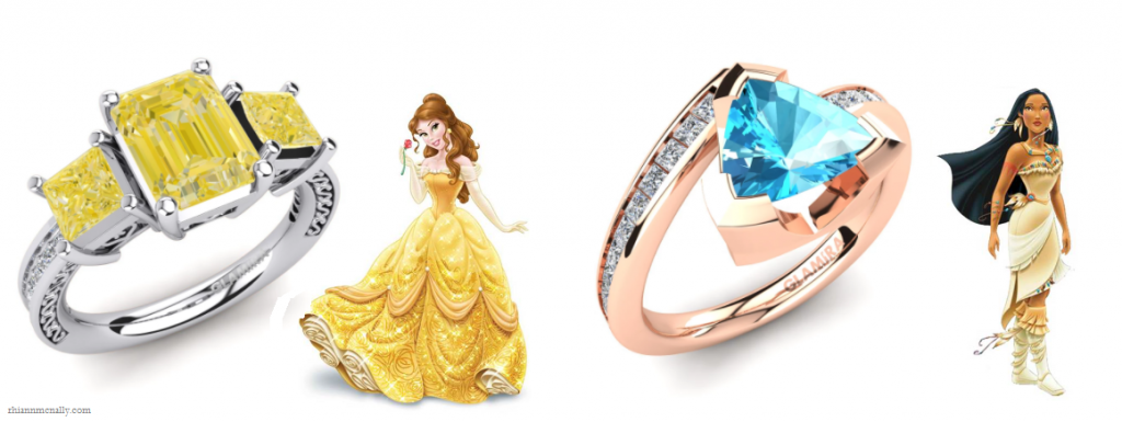 Belle and Pocahontas's Engagement Rings