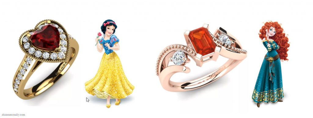 Snow White and Merida's Engagement Rings